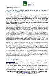 Dohoda o provedení práce - EPMA