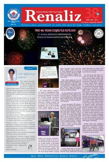 Türk Nefroloji Derneği 40. Yaşında - Anadolu Böbrek Vakfı
