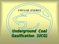 Underground Coal Gasification (UCG)