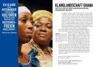 Klanglandschaft Ghana - Allerweltshaus Köln