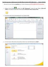 E-Mail Einrichtung Outlook 2010 - GO.de