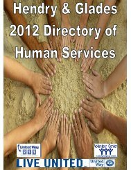 2012 Human Services Directory Hendry & Glades - United Way