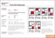 Preise Print-Stellenmarkt - Isler Annoncen AG