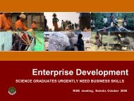 Enterprise Development - Science Initiative Group