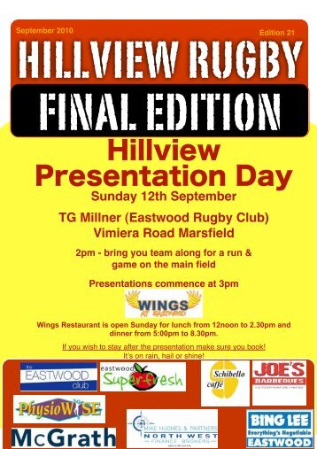hillview newsletter FINAL Edition - Hillview Rugby