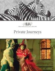 Private Journeys - Luxury Territory