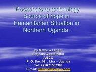 Humanitarian Situation in Northern Uganda.