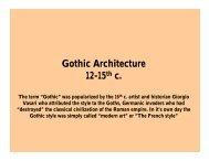 Gothic Architecture 12-15th c. - De Anza College