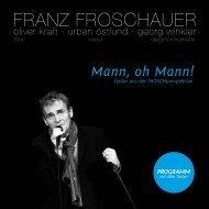 Programmheft - Franz Froschauer