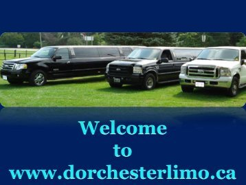 Comfort and Luxury - Limousine Service London Ontario