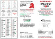 NOTDIENST- KALENDER 20 10 - Rats-Apotheke