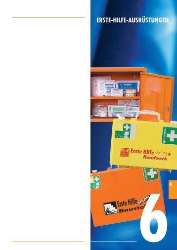 Erste-Hilfe-Ausrüstungen BBB-Katalog