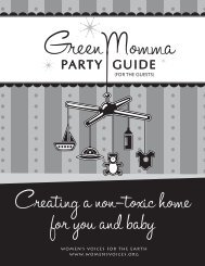 Green Momma Party Guide Guests - Women's Voices for the Earth