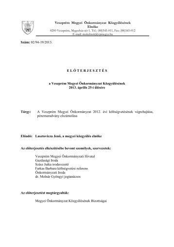 2012. - Veszprém megye honlapja
