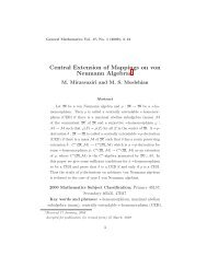 Central Extension of Mappings on von Neumann Algebras