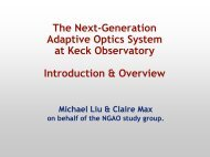 NGAO - WM Keck Observatory