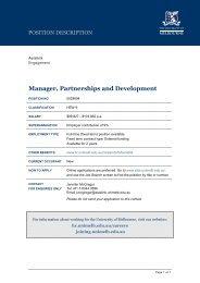 Position Description template - Asialink - University of Melbourne