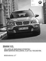 Prenos podatkov Trenutne cene za BMW X5 (PDF, 274k).