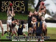 -Page 1- The Kings Speech - 1308 May 2013 - Pembroke Kings
