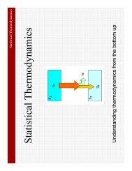 Statistical Thermodynamics - Nano Mahidol