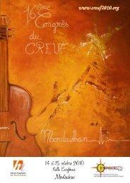 (PROGRAMME 16ème CREUF 2010 MONTAUBAN) - Centre ...