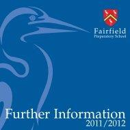 Further Information - Fairfield Preparatory School