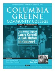 Spring Noncredit Classes - Columbia-Greene Community College