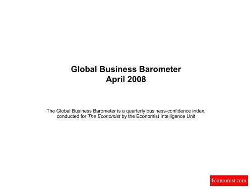 Global Business Barometer April 2008