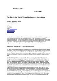 PREPRINT The Sky in the World View of Indigenous Australians