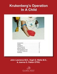 Krukenberg's Operation In A Child - Global HELP