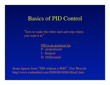 Basics of PID Control