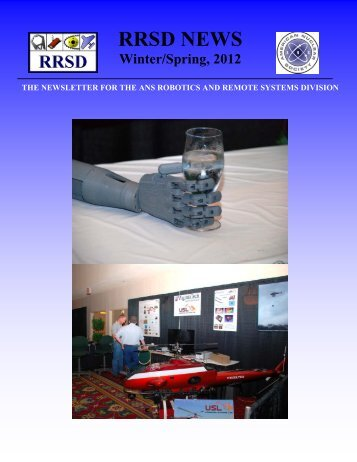 Winter/Spring, 2012 - Robotics and Remote Systems Division ...