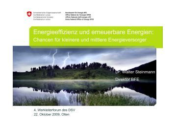 Energieeffizienz und erneuerbare Energien: