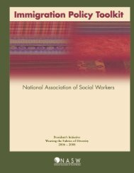 Immigration Policy Toolkit - National Association of Social Workers