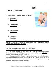 the water cycle - sdsu
