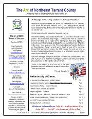 July 2010 - Arc NETC Newsletter