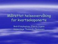 Presentasjon av helseovervåkings-veiledningen - Norsk Industri