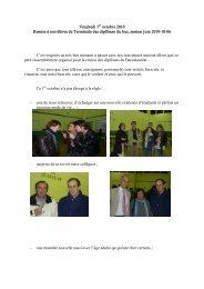 Vendredi 1 octobre 2010 Remise à nos élèves de Terminale des ...