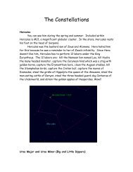 The Constellations - Hays Cummins' Home Page
