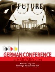 at HARVARD 2011 - German Conference at Harvard