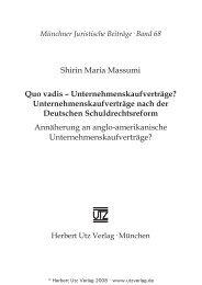 und Einleitung (247 KB) - Herbert Utz Verlag GmbH