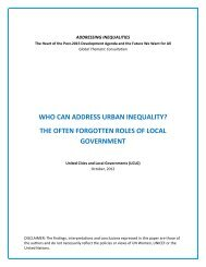 UCLG Position Paper on Urban Inequalities