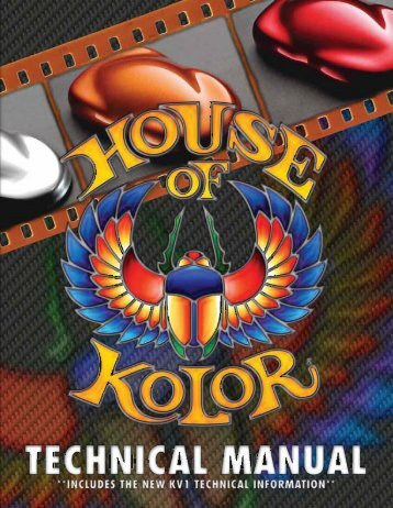 California Products and Application Procedures ... - House of kolor