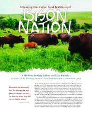 Download Renewing the Native Food Traditions of Bison Nation
