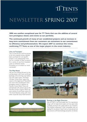 Spring Newsletter 2007 - TT Tents