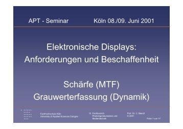 Elektronische Displays