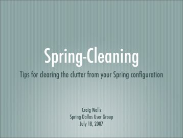 Tips for clearing the clutter from your Spring ... - Habuma.com