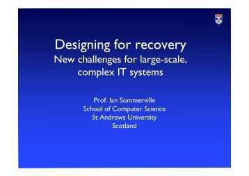 Designing for recovery - Computer Science Web Archive