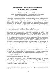 Introduction to Krylov Subspace Methods in Model Order Reduction
