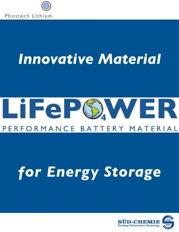 Life Power - Phostech Lithium inc.